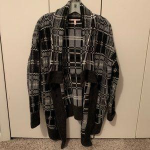 Victoria Secret black white sweater poncho size xs